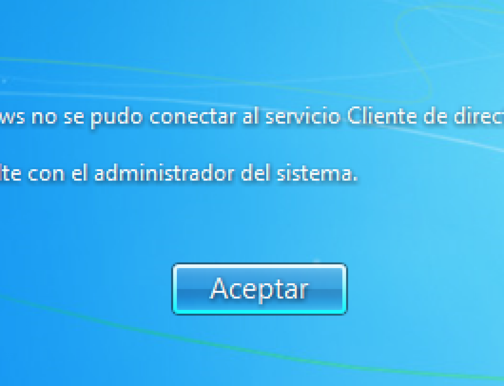 "Arreglar el error ""Windows no se pudo conectar al servicio Cliente de Directiva de Grupo"" en Windows 7"