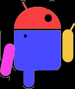 Android logo deformado