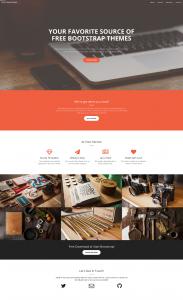 Landing page con el tema Creative