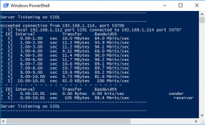 Iperf Windows (Servidor)